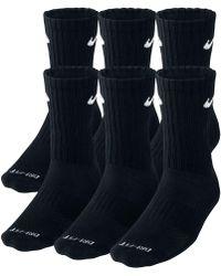 Nike - Socks, Dri Fit Crew 6 Pairs - Lyst