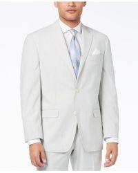 Sean John - Classic-fit Stretch Gray Stripe Seersucker Suit Jacket - Lyst