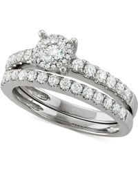 Macy's - Diamond Bridal Set (1/4 Ct. T.w.) In 14k White Gold - Lyst