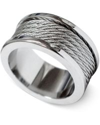 Charriol - Silver-tone Cord Ring 02-01-1139-0-56 - Lyst