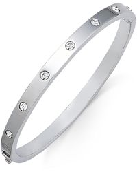 Kate Spade - Silver-tone Crystal Bangle Bracelet - Lyst