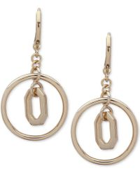 Ivanka Trump - Polished Orbital Drop Earrings - Lyst