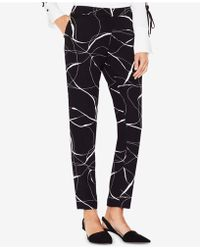 Vince Camuto - Printed Skinny Trousers - Lyst