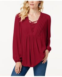 Style & Co. - Criss-cross Top, Created For Macy's - Lyst