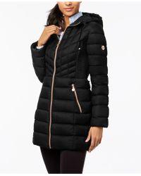a5e2987cc48 Lyst - Bernardo Plus Size Packable Puffer Coat in Black