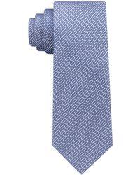 DKNY - Geometric Neat Slim Silk Tie - Lyst