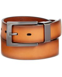 Alfani - Men's Faux-leather Cut-edge Reversible Belt - Lyst