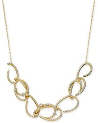 "Danori - Gold-tone Pavé Link Statement Necklace, 16"" + 2"" Extender, Created For Macy's - Lyst"