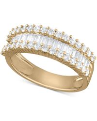 Macy's - Diamond Baguette Cluster Band (1 Ct. T.w.) In 14k White Gold Or Yellow Gold - Lyst