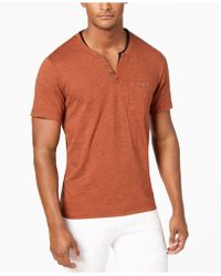 INC International Concepts - I.n.c. Speckled Henley Shirt, Created For Macy's - Lyst