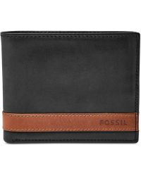 Fossil - Quinn Bifold With Flip Id Wallet - Lyst