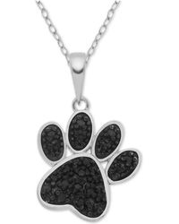 "Macy's - Diamond Paw 18"" Pendant Necklace (1/10 Ct. T.w.) In Sterling Silver - Lyst"