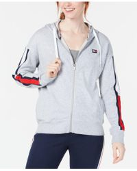 e2becc5c24684 Tommy Hilfiger - Sport Logo Sleeves Zip-up Hoodie - Lyst