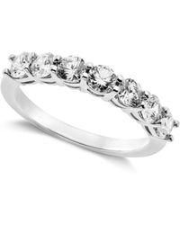 Arabella - Sterling Silver Ring, Swarovski Zirconia 7-stone Ring (2-1/6 Ct. T.w.) - Lyst
