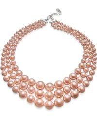 Charter Club - Imitation Pearl Three-row Collar Necklace - Lyst