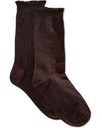 Hue - Women'S Solid Femme Top Sock - Lyst