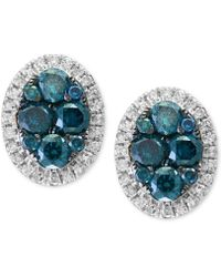 Effy Collection - Diamond Halo Stud Earrings (1 Ct. T.w.) In 14k White Gold - Lyst