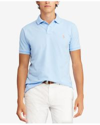 Polo Ralph Lauren - Custom Slim-fit Cotton Mesh Polo Shirt - Lyst