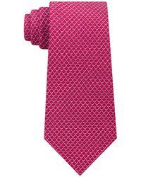 Michael Kors - Scale Pattern Silk Tie - Lyst