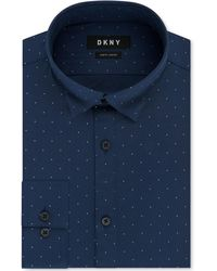 DKNY - Slim-fit Performance Active Stretch Dot Dress Shirt, Created For Macy's - Lyst