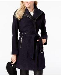 T Tahari - Elaine Asymmetrical Belted Coat - Lyst