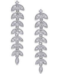 Macy's - Diamond Geometric Drop Earrings (1/2 Ct. T.w.) In 14k White Gold - Lyst
