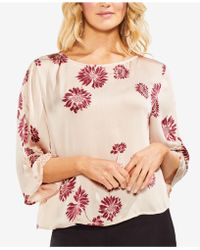 Vince Camuto - Printed 3/4-sleeve Top - Lyst