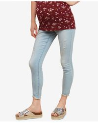 Jessica Simpson - Maternity Distressed Skinny Jeans - Lyst