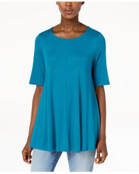 Eileen Fisher - Stretch Jersey Elbow-sleeve Top, Regular & Petite - Lyst