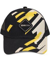 official photos 6cb03 e3bd4 Sean John - Geo Gloss Patch Merrow Edge Mountain Trucker Hat, Created For  Macy s -