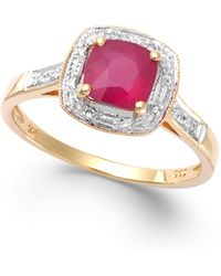 Macy's - Ruby (1-1/4 Ct. T.w.) And Diamond Accent Ring In 14k Gold - Lyst