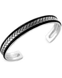 Effy Collection - Men's Woven Cuff Bracelet In Sterling Silver - Lyst