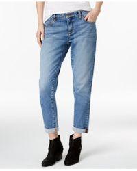 Eileen Fisher - Cuffed Boyfriend Jeans - Lyst