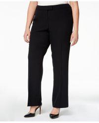 Anne Klein - Plus Size Straight-leg Trousers - Lyst