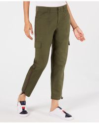 9170d5478c Tommy Hilfiger Cropped Cargo Pants in Blue - Lyst
