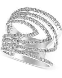 Effy Collection - Geo By Effy Diamond Ring (7/8 Ct. T.w.) In 14k White Gold - Lyst