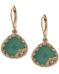 Lonna & Lilly - Gold-tone Pavé & Colored Stone Bee Drop Earrings - Lyst