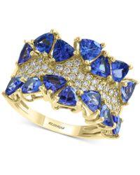 Effy Collection - Effy® Tanzanite (3 Ct. T.w.) & Diamond (3/8 Ct. T.w.) Ring In 14k Gold - Lyst