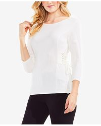 Vince Camuto - Ribbed Side-corset Jumper - Lyst