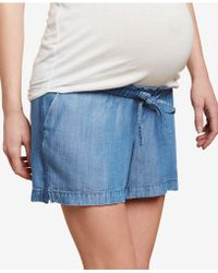 Jessica Simpson - Maternity Chambray Shorts - Lyst