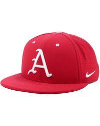 huge selection of 2061d a9716 Nike - Arkansas Razorbacks Aerobill True Fitted Baseball Cap - Lyst