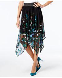 INC International Concepts | Embroidered Handkerchief-hem Skirt | Lyst