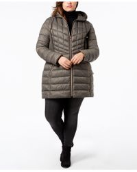 Bernardo - Plus Size Packable Puffer Coat - Lyst