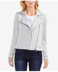 Vince Camuto - French Terry Moto Jacket - Lyst