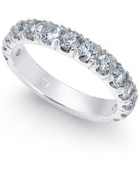 Macy's - Diamond Ring (1-1/2 Ct. T.w.) 14k White Gold - Lyst