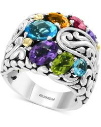 Effy Collection - Effy® Multi-gemstone Statement Ring (5-1/5 Ct. T.w.) In Sterling Silver & 18k Gold - Lyst