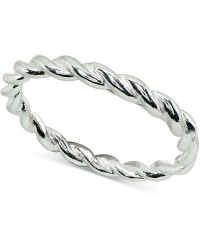 Giani Bernini - Twisted Stackable Band In Sterling Silver, Created For Macy's - Lyst
