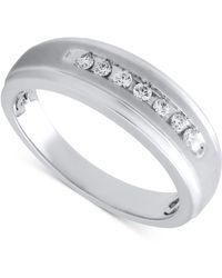 Beautiful Beginnings - Men's Diamond Band In Sterling Silver (1/5 Ct. T.w.) - Lyst
