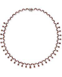 Macy's - Rhodolite Garnet Statement Necklace (40 Ct. T.w.) In Sterling Silver - Lyst