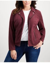 Style & Co. - Plus Size Faux-suede Jacket, Created For Macy's - Lyst